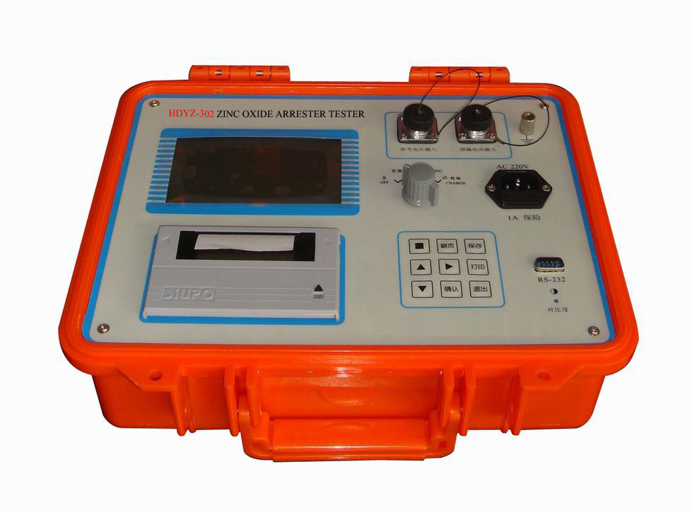 Zinc oxide arrester performance tester