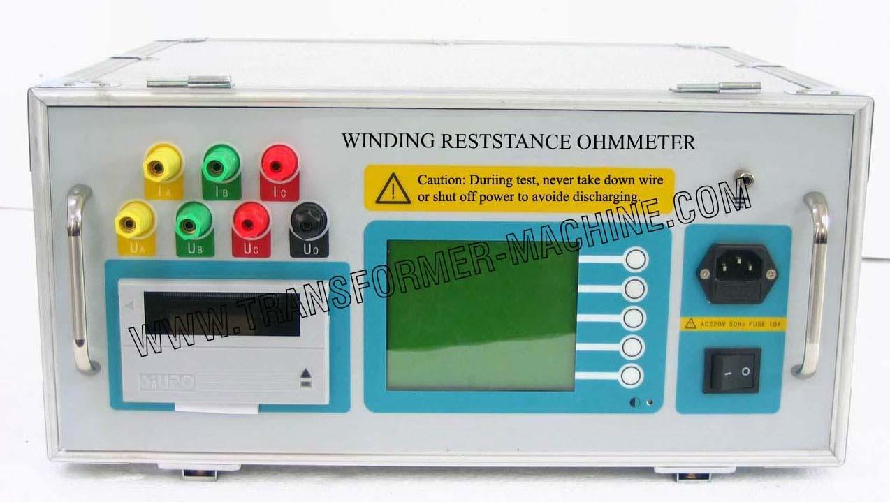 Transformer winding resistance ohmmeter