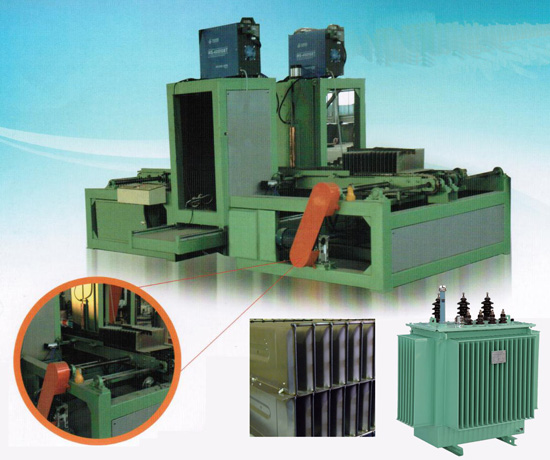 Transformer corrugated tank fin welding machine