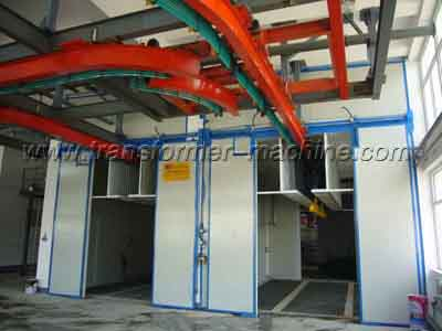 Transformer radiator coating plant